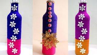 DIY wine bottle home decoration idea - Empty wine bottle decoration ideas