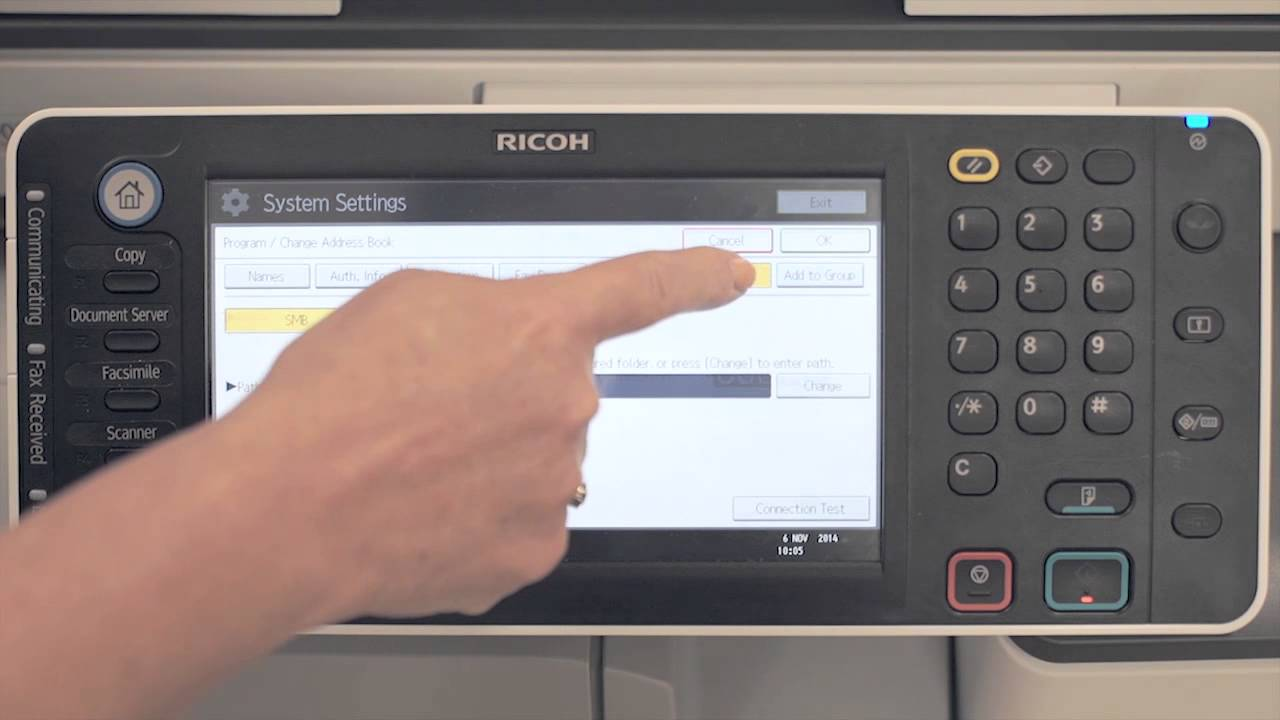 Ricoh Customer Support - How to add Address Book entries