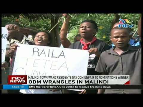 Malindi town ward residents say ODM was unfair to nominations winner