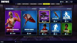 NEW MALE LIFEGUARD SKIN AND RESCUE PADDLE PICKAXE IN FORTNITE ITEM SHOP