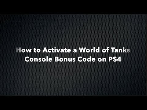 World of Tanks Console - How to Activate a Bonus Code on PS4