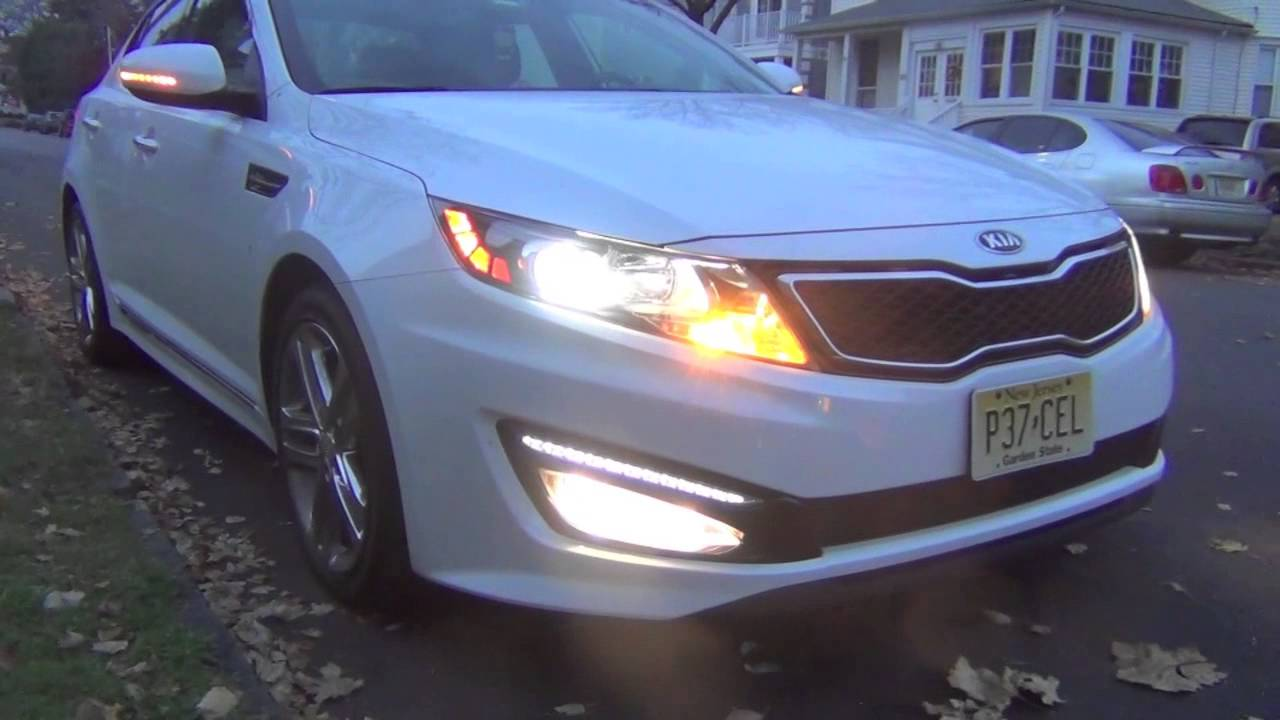 2013 Kia Optima Sxl Limited Lights Youtube