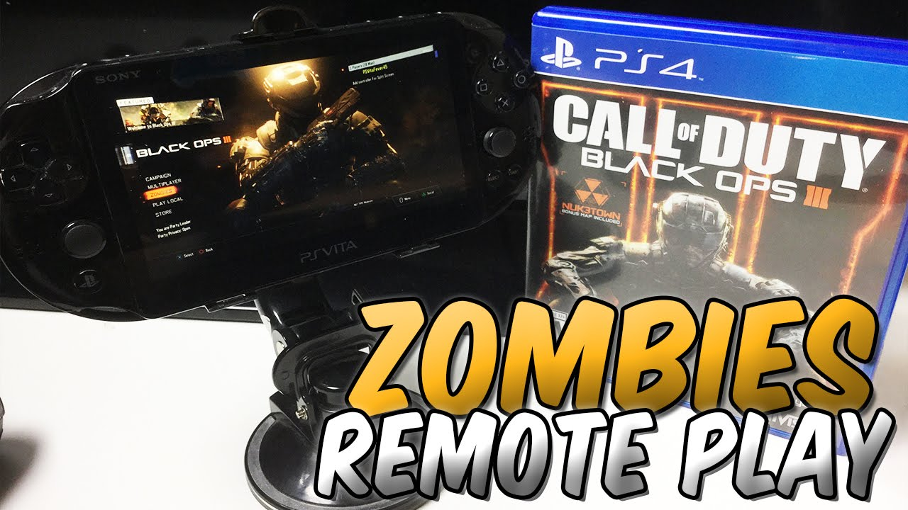 Ps Vita Cod Zombies Black Ops 3 Zombies Ps Vita Remote Play Gameplay