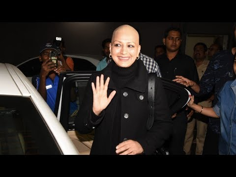 Sonali Bendre Returns To India With A Charming Smile After Her Cancer Treatment