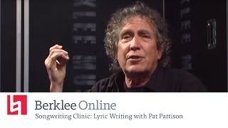 Berklee Online Lyric Writing Clinic: Pat Pattison