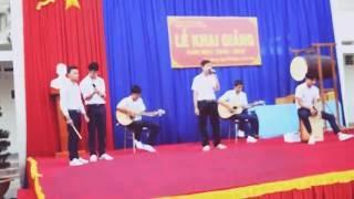 [THPT Lộc Hưng] Lá Cờ - Quê Hương Việt Nam cover sáo trúc, guitar, cajon Lễ khai giảng