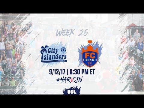 USL LIVE - Harrisburg City Islanders vs FC Cincinnati 9/12/17