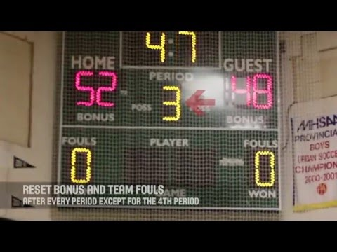 SCORE CLOCK - Basketball Manitoba Scoreboard Video Series