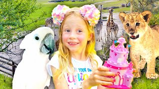 Nastya and her family travel dreams. Video for kids learn about animals.
