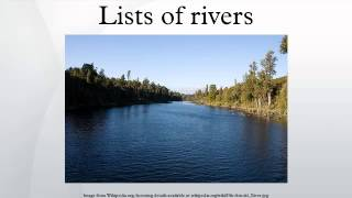 Lists of rivers