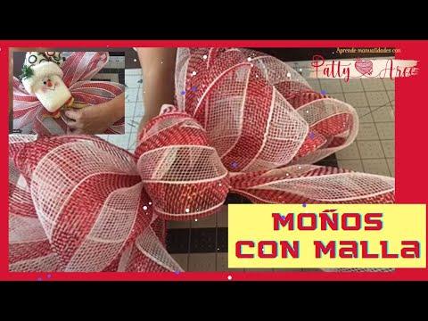 Como se hacen mo os en malla para navidad - Como se hacen adornos navidenos ...