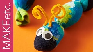 How to Make a Sock Caterpillar - Simple craft idea for kids