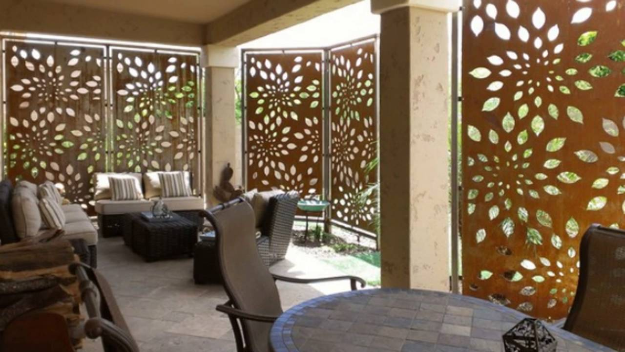 Patio privacy screen youtube for Small outdoor privacy screen