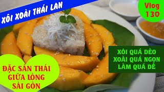 Thai Mango Sticky Rice - Khao Niaow Ma Muang - Famous streetfood in Thailand