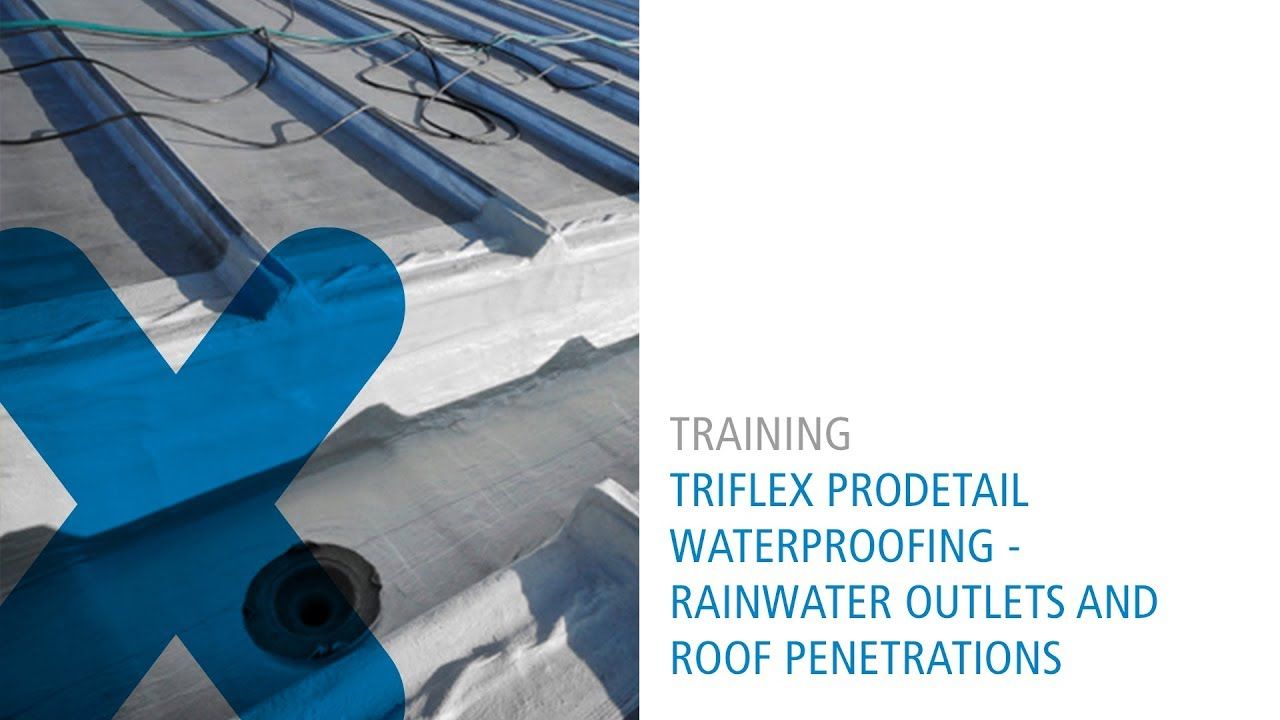 Triflex Waterproofing Rainwater Outlets And Roof