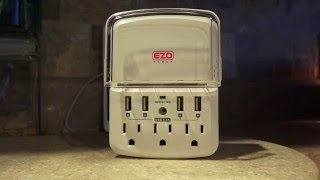 USB Socket or USB Outlet, Wall Mounted 3 Outlet 4 USB Port 4.8 amp Charger EZO Power