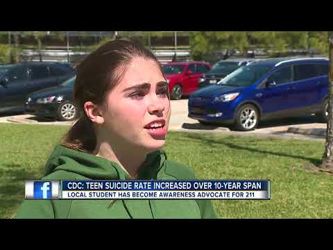 Plant High School student advocating for suicide awareness