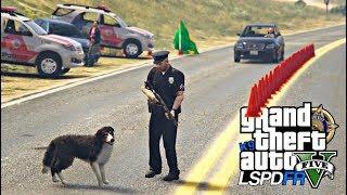 GTA V | LSPDFR | SUPER BLITZ POLICIAL COM O CÃO FAREJADOR | 154