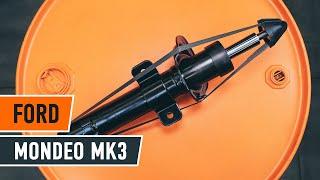 Cómo cambiar los puntal amortiguador parte delantera en FORD MONDEO MK3 Berlina [AUTODOC]