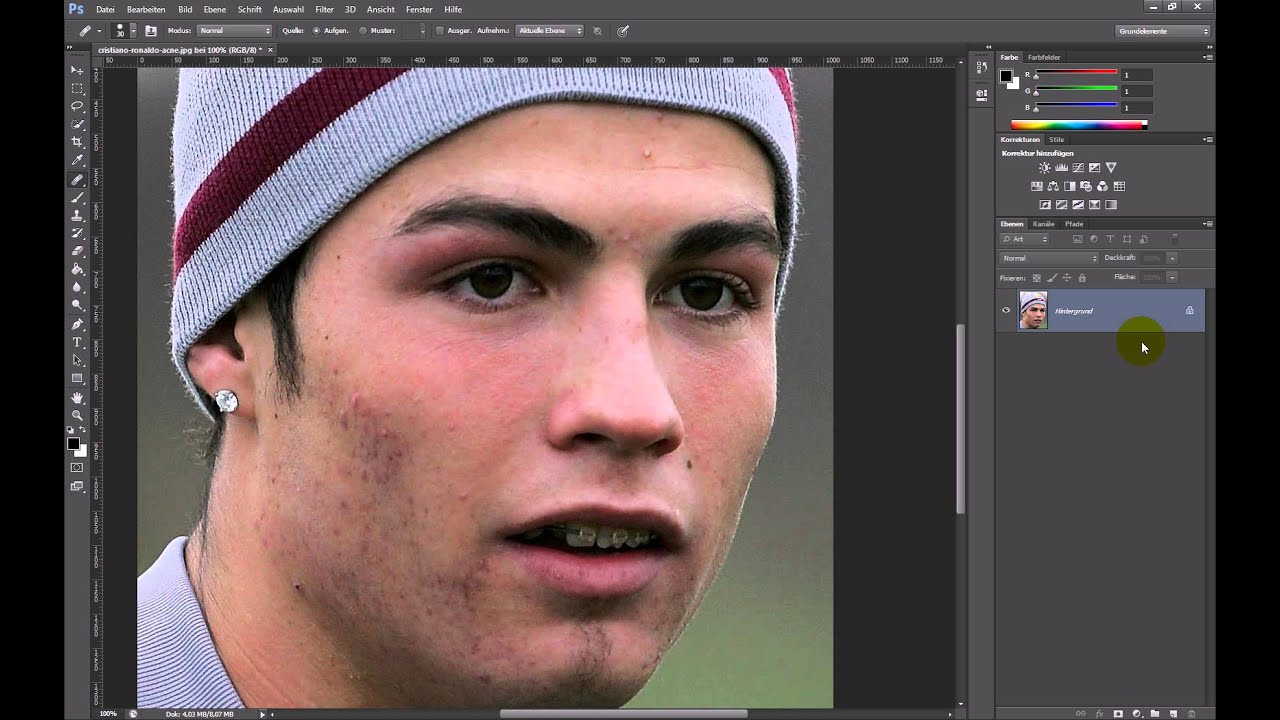 Pickel entfernen – Photoshop-Tutorial - YouTube