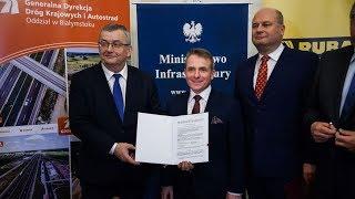 Umowa na budowę odcinka S61 Ostrów-Łomża podpisana
