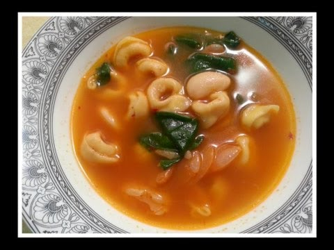 Cheese tortellini and bean soup recipe