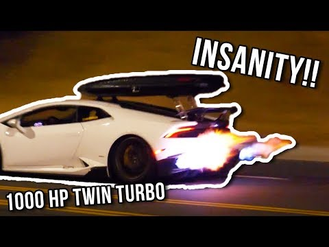 1000HP TWIN TURBO HURACAN SPITS FLAMES AND...