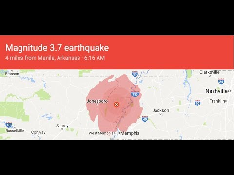 Another Warning!  10/15/17 Earthquake on New Madrid