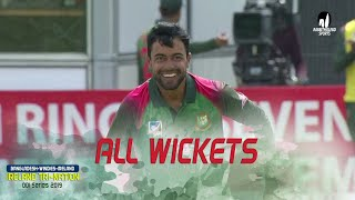 All Wickets || Ireland vs Bangladesh || 6th Match || ODI Series || Tri-Series 2019