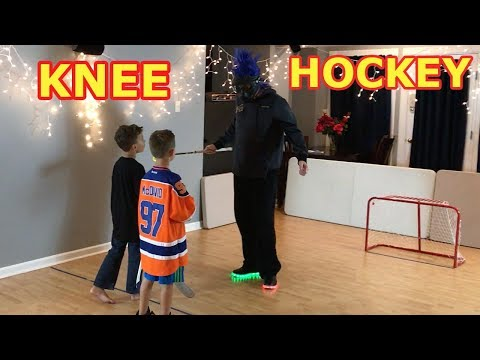 Kids HocKey Epic Knee Hockey Must Watch to eNd 'Connor McDavid' vs Dusty- DUSTY REVEALED