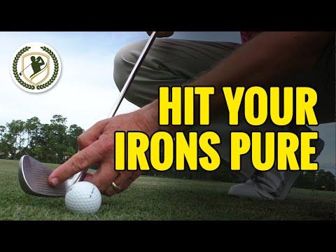 PGA TIPS – HOW TO HIT YOUR IRONS PURE – STRIKE SOLID CONTACT!