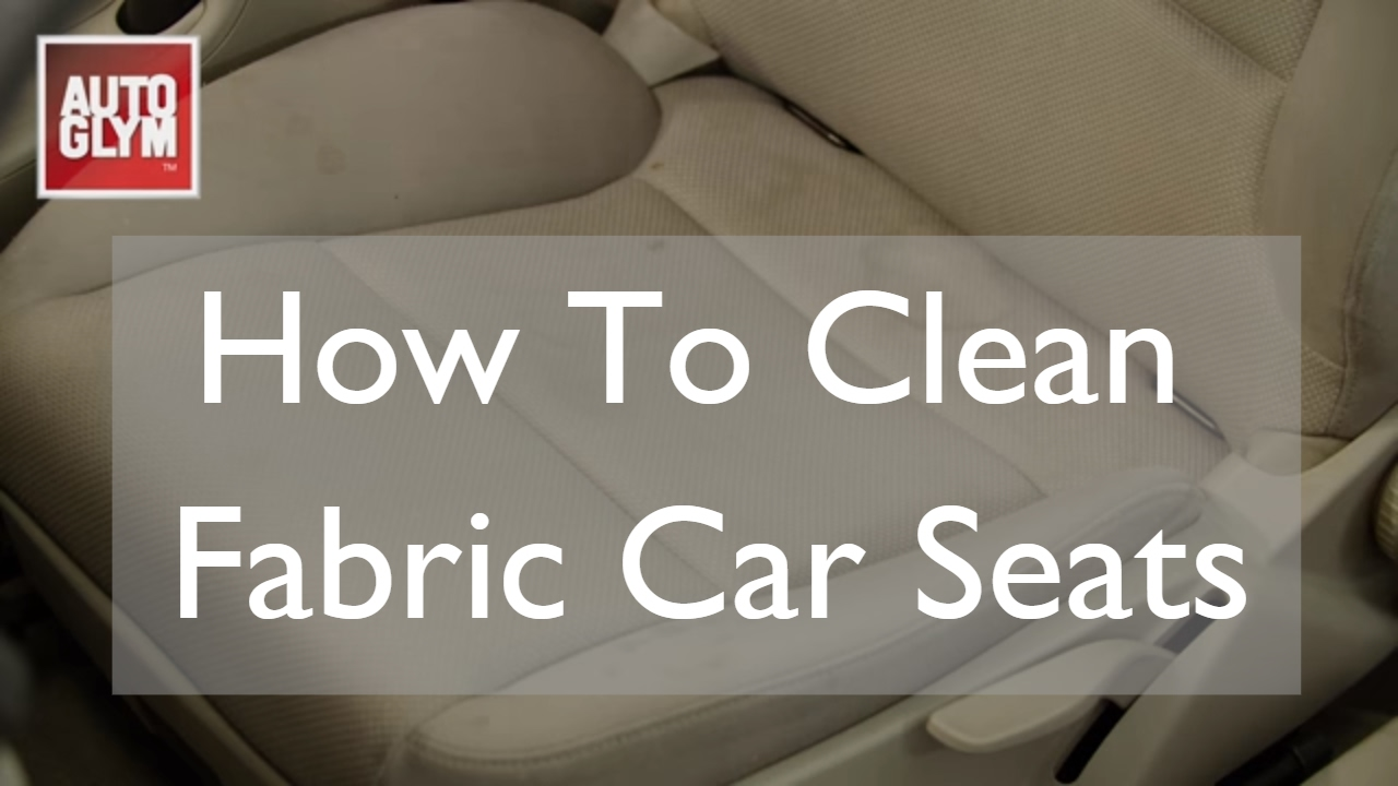How To Clean Fabric Car Seats  YouTube