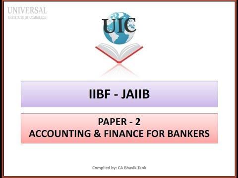 JAIIB - AFB (Paper 2) - # 4 Journal Entry Part II