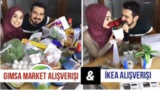 YENİ EVİMİZE İLK DEV ALIŞVERİŞ - IKEA & GİMSA MARKET - NELER ALDIK? | #herşeyaşkla #vlog