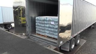 KEITH® WALKING FLOOR® System Handling Palletized Cargo