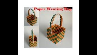 DIY Paper Weaving Basket || Best Paper Cfart