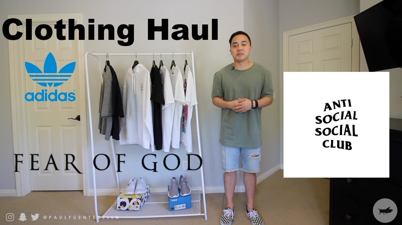 free shipping 0a75a 39126 Fear of God 4th Collection, Anti Social Social Club, UNCAGED Ultra Boost,  Adidas NMD Clothing Haul - YouTube