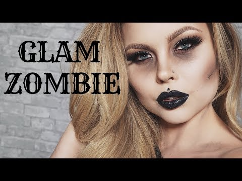Glam Zombie Makeup Tutorial: ft Rimmel London: Quick and Easy Affordable Halloween Makeup 2018