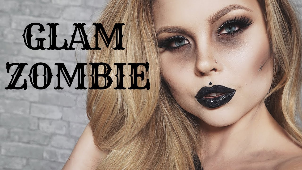 glam zombie makeup tutorial: ft rimmel london: quick and easy