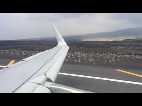 American Airlines A321S Approach and Landing At Kailua-Kona International Airport