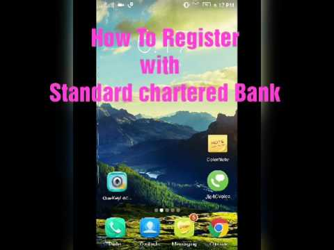 How to Register Online Banking in Standard Chartered Bank