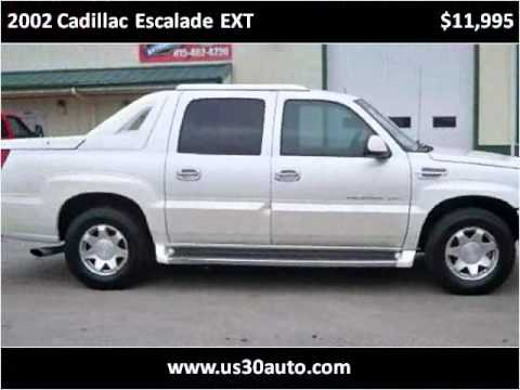 2002 cadillac escalade ext used cars new lenox il youtube. Black Bedroom Furniture Sets. Home Design Ideas