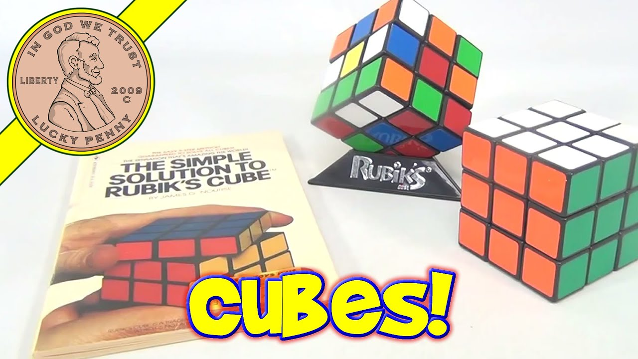 Rubiks Cube The Simple Solution Book Vintage Rubiks Cube Puzzle