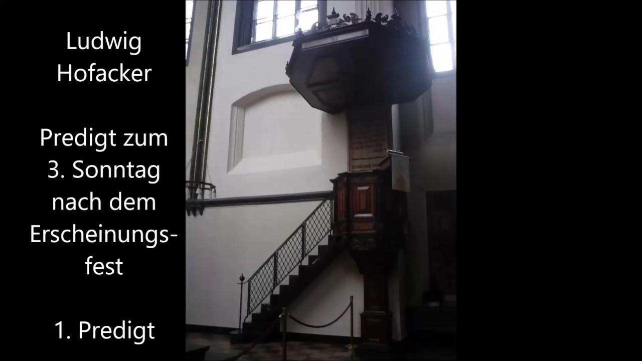 Ludwig Hofacker Predigt Zum 3 Sonntag Nach Dem Erscheinungsfest