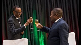 President Kagame hosts a State Banquet for President Filipe Nyusi of Mozambique