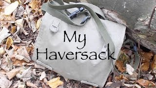 My Haversack.  A review and what I carry in it for a day out.