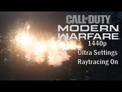 Call Of Duty Modern Warfare 2019 AIR STRIKE EXPLOSION (1440p Ultra Settings)