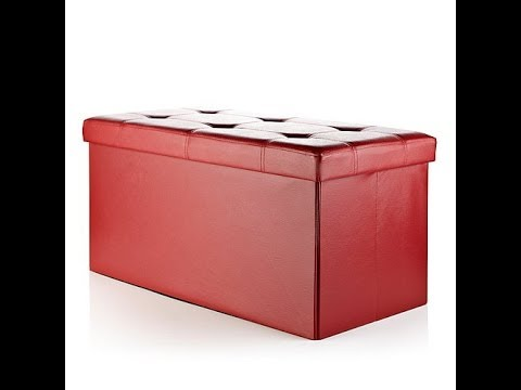 Folding Storage Ottoman With Removable Lid Youtube