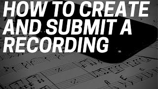 THUNDERSTRUCK - How to create and submit a recording