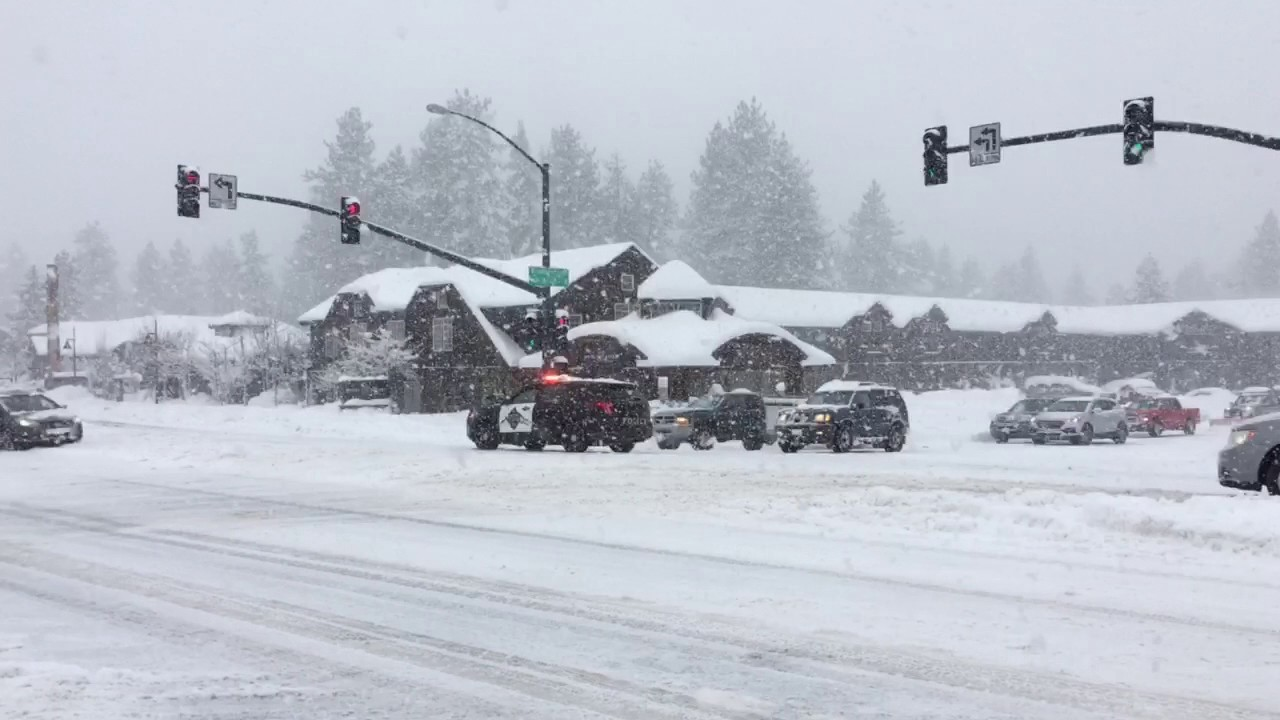 Us50 South Lake Tahoe Snow Storm Youtube